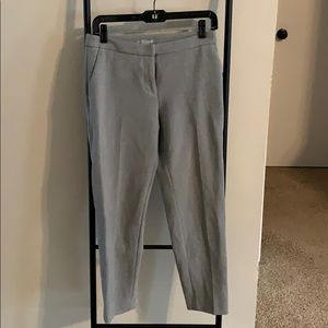 EUC H&M Light Gray Cropped Slacks Pants Size 4